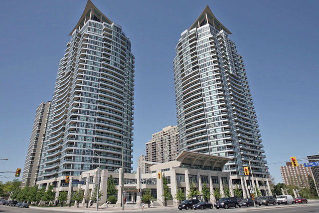 City One Condos at 1 and 33 Elm Drive West in Square One Mississauga