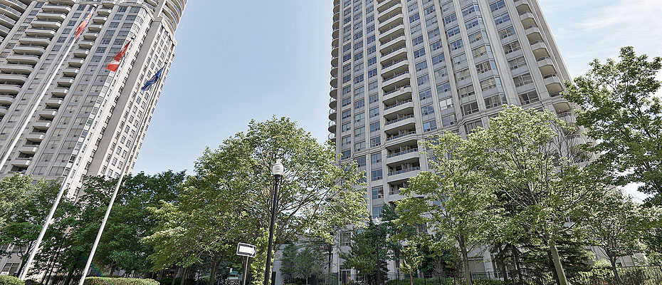 Skymark West Condos at 25 and 35 Kingsbridge Garden Circle in Mississauga