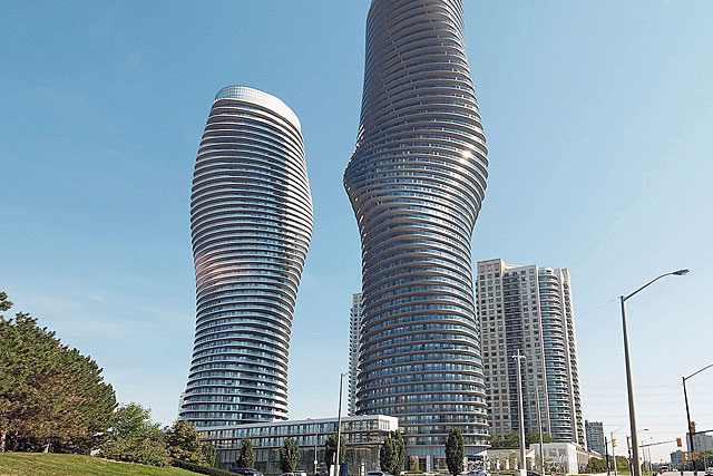 Marilyn Monroe Condos at 50 and 60 Absolute Avenue in Mississauga